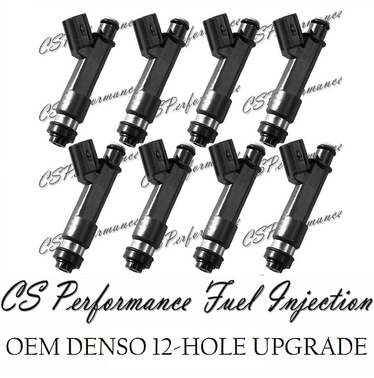 OEM Denso 12-Hole Upgrade Fuel Injectors (8) set for 05-09 Lexus Toyota 4.7L V8