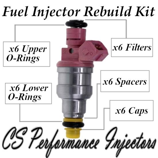Fuel Injectors Rebuild Repair Kit fits 0280150998 for 1997-1999 Dodge 3.9L V6