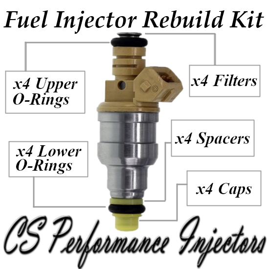 Fuel Injectors Rebuild Repair Kit fits 0280150761 for 89-94 Saab 900 2.0L Turbo