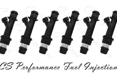 OEM Delphi Fuel Injectors Set (6) 12586551 for Buick Chevy Pontiac 3.1 3.4 V6