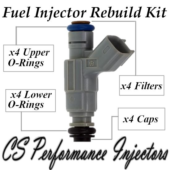 Fuel Injectors Rebuild Repair Kit fits 0280155976 for 00-03 Chrysler Dodge 2.0