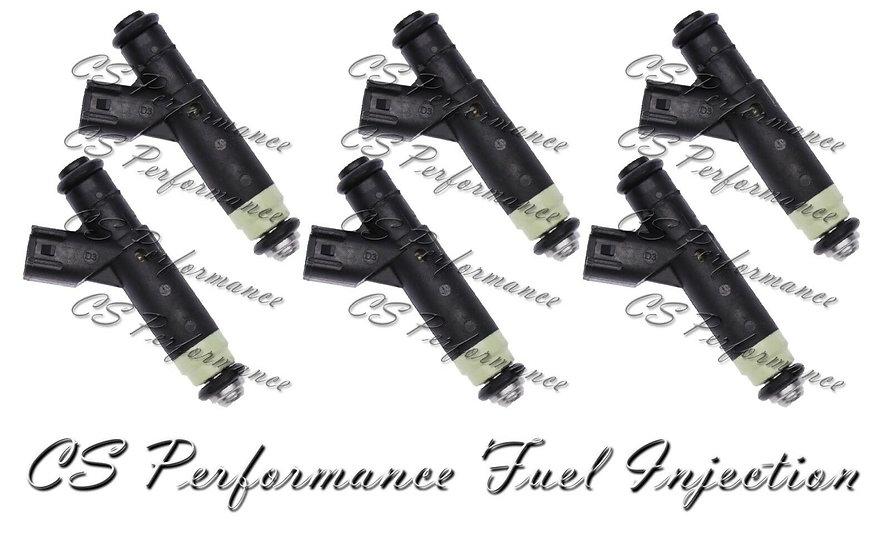 Siemens Fuel Injectors Set (6) 6F2E-B4A for 2005-2007 Ford Mercury 3.9 4.2 V6