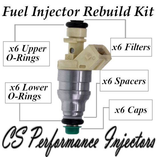 Fuel Injectors Rebuild Repair Kit fits 0280155205 for 92 Mercedes-Benz 300SE 3.2
