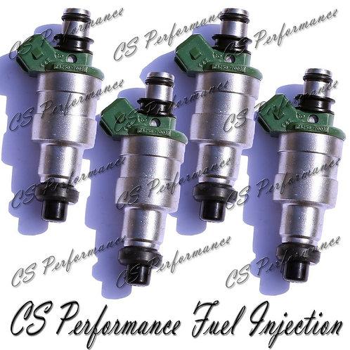 OEM Denso Fuel Injectors Set (4) 23250-70010 for 1983-1984 Toyota Starlet 1.3 I4