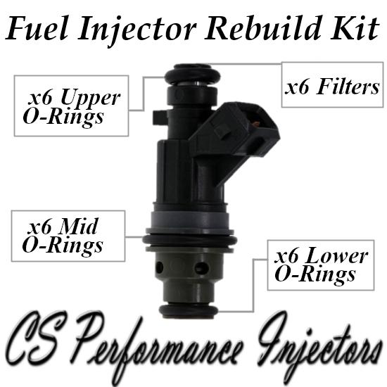 Fuel Injectors Rebuild Repair Kit fits 0280155848 for 2000-2005 Saturn 3.0L V6