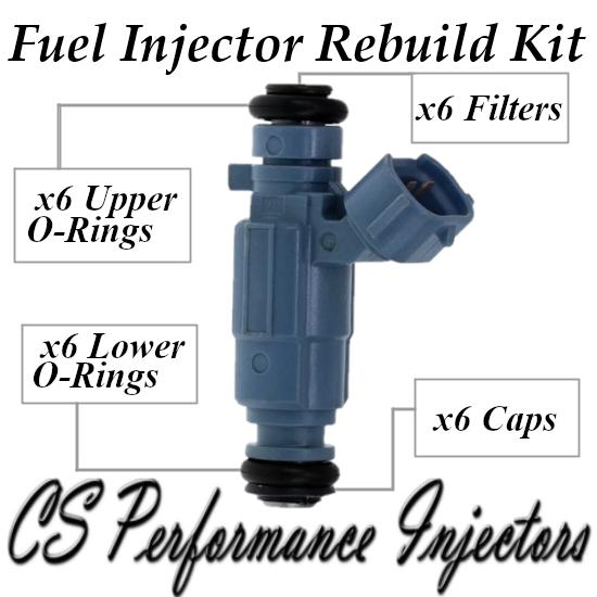 Fuel Injectors Rebuild Repair Kit fits 35310-38010 for 02-06 Hyundai Kia 3.5L V6