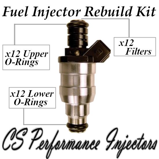 Fuel Injectors Rebuild Repair Kit fits D3762FA for 1988-1997 BMW 5.0L 5.4L V12