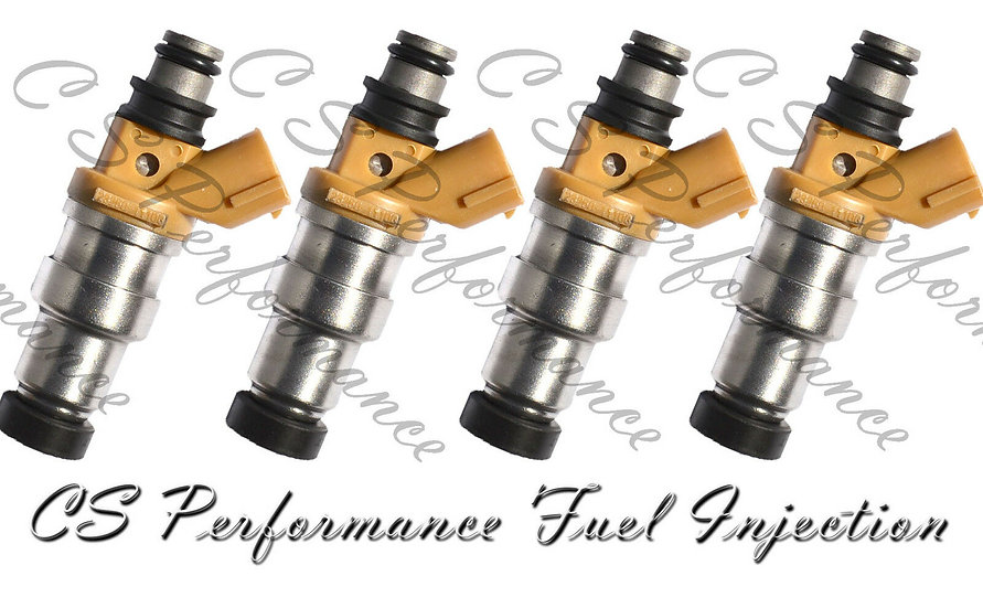 OEM Denso Fuel Injectors Set (4) 23250-11100 for 1992-1995 Toyota Paseo 1.5L I4