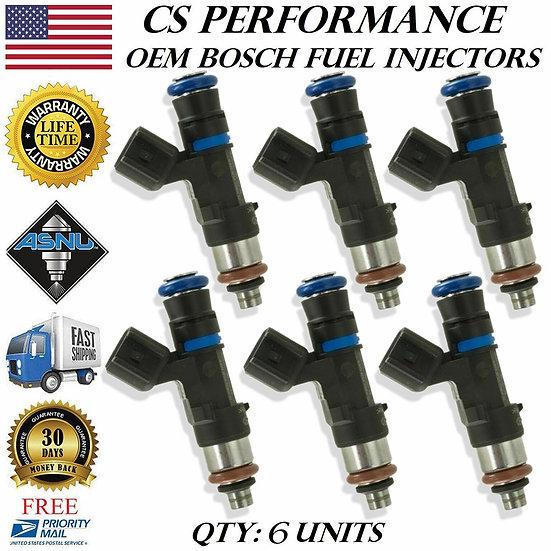 OEM Bosch Fuel Injectors Set (6) 0280158055 for 05-11 Ford Mazda Merc LR3 4.0 V6