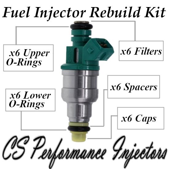 Fuel Injector Rebuild Repair Kit fits F6DE-A2A for 96-99 Ford Taurus 3.0 V6 Flex
