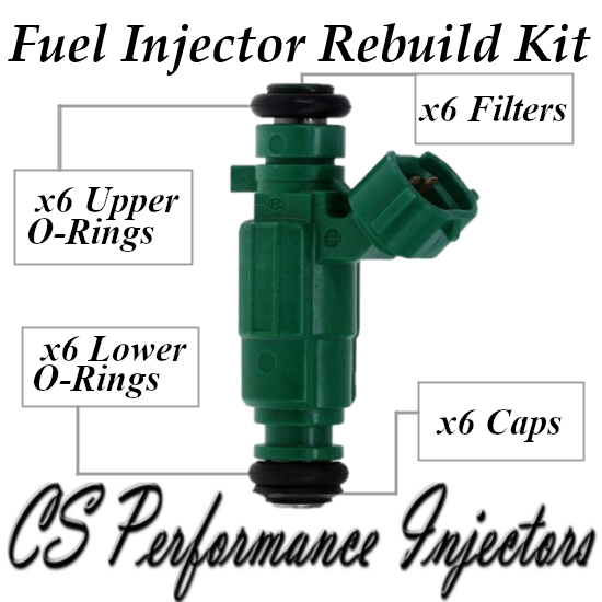 Fuel Injectors Rebuild Repair Kit fits 35310-37150 for 99-10 Hyundai Kia 2.7 2.5