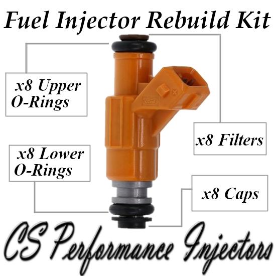 Fuel Injectors Rebuild Repair Kit fits 0280155725 for 96-98 Ford Taurus 3.4L V8