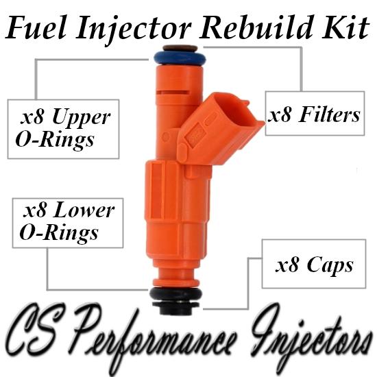 Fuel Injectors Rebuild Repair Kit fits 0280155917 for 03-04 Ford Lincoln 4.6L V8