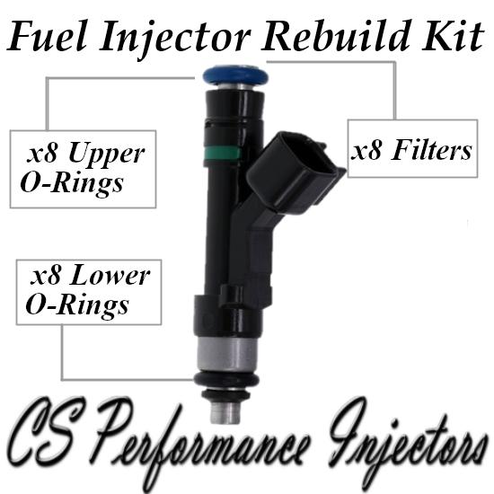 Fuel Injectors Rebuild Repair Kit fits 0280158083 for 06-11 Cadillac Buick 4.6L