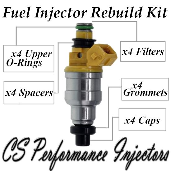 Fuel Injectors Rebuild Repair Kit fits INP-050 for Dodge Eagle Mitsubishi 1.5 I4