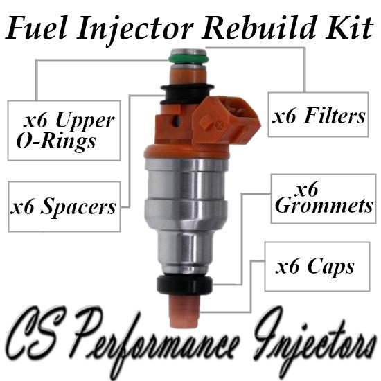 Fuel Injectors Rebuild Repair Kit fits INP-060 for 95-00 Chrysler Dodge 2.5L V6