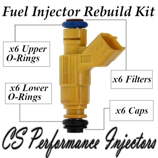 Fuel Injectors Rebuild Repair Kit fits 0280156133 for 03-04 Chrysler Dodge 2.7L
