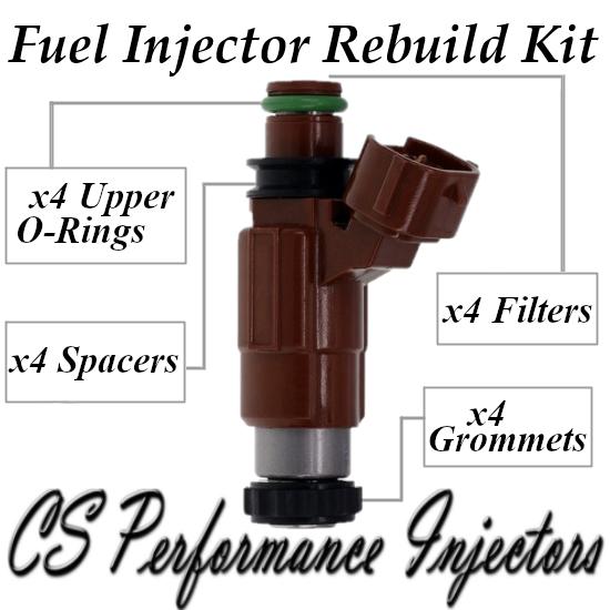 Fuel Injectors Rebuild Repair Kit fits INP-780 INP-781 for 99-02 Mazda 2.0 1.8