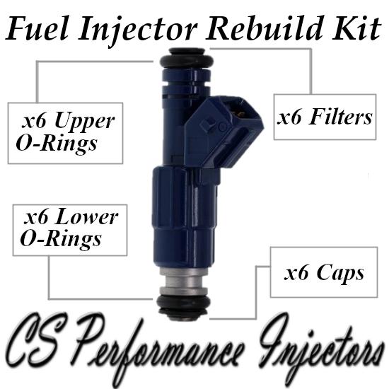 Fuel Injector Rebuild Repair Kit fits 0280155712 for 96-03 Cadillac Saab 3.0 2.5