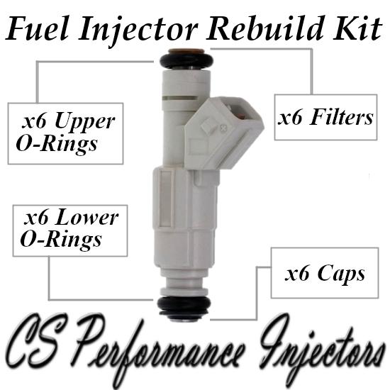 Fuel Injectors Rebuild Repair Kit fits 0280155737 for 96-05 Buick Chevy 3.8L V6