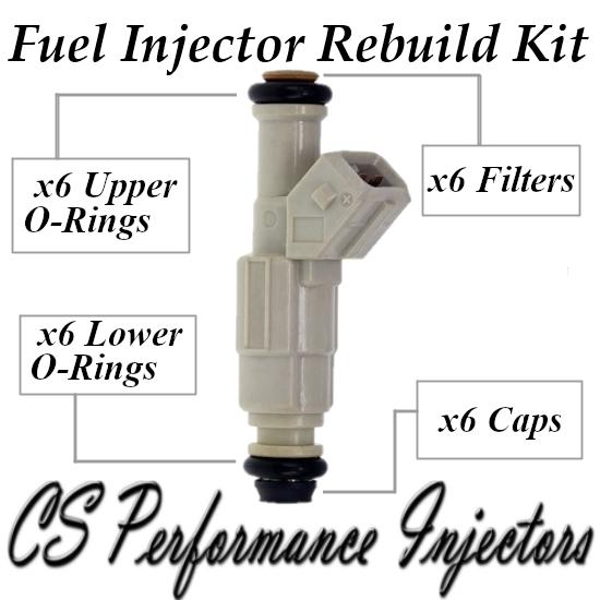 Fuel Injectors Rebuild Repair Kit fits 0280155962 for 98-01 Ford Mazda 4.0L V6