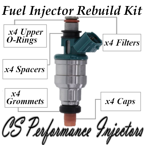 Fuel Injectors Rebuild Repair Kit fits 195500-2350 for 95-97 Suzuki Esteem 1.6