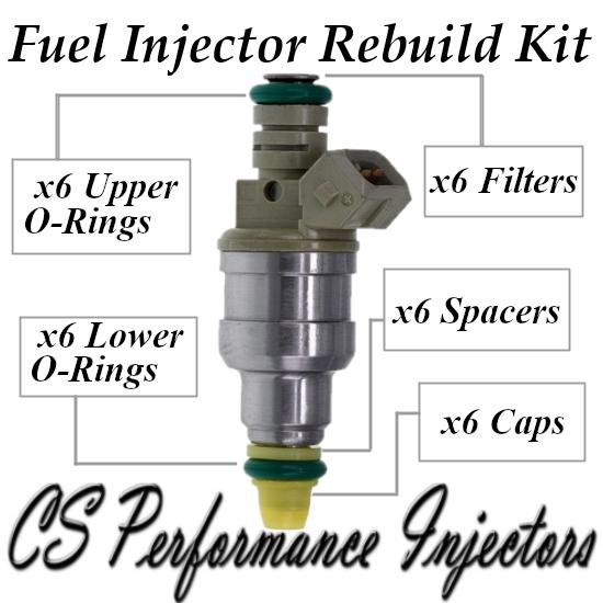 Fuel Injectors Rebuild Repair Kit fits 0280150960 for 91-95 Buick Chevy 3.8L V6
