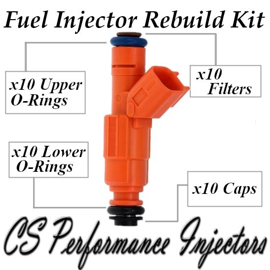 Fuel Injectors Rebuild Repair Kit fits 0280155917 for 2000-2005 Ford 6.8L V10