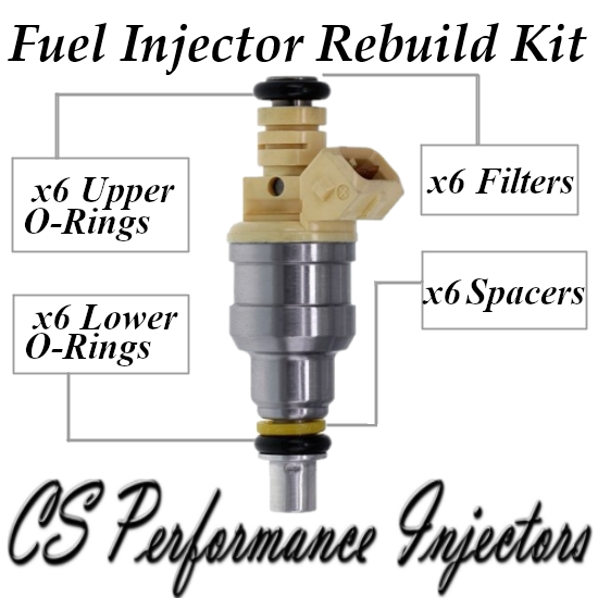 Fuel Injectors Rebuild Repair Kit fits 0280150812 for 87-91 Chrysler Dodge 3.0L