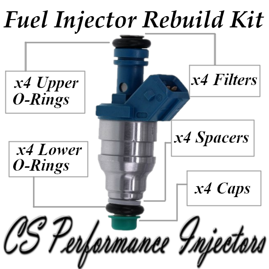 Fuel Injectors Rebuild Repair Kit fits 0280155008 for 1991-1993 Saab 900 2.1L L4