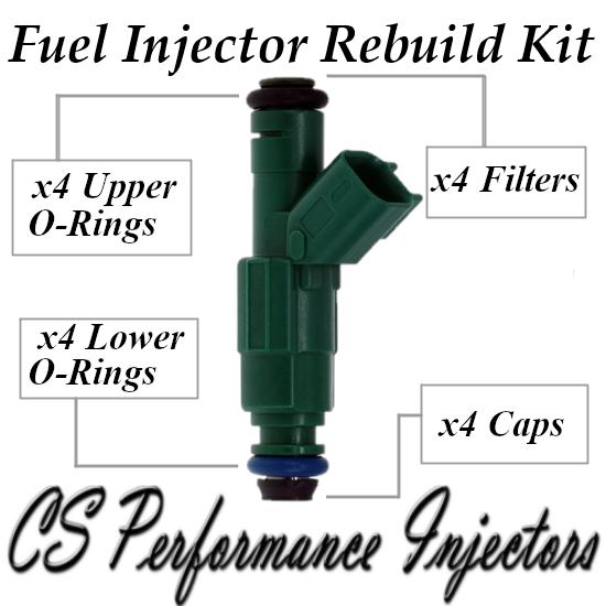 Fuel Injectors Rebuild Repair Kit fits 0280156193 for 03-07 Mazda 3 5 6 2.3L I4