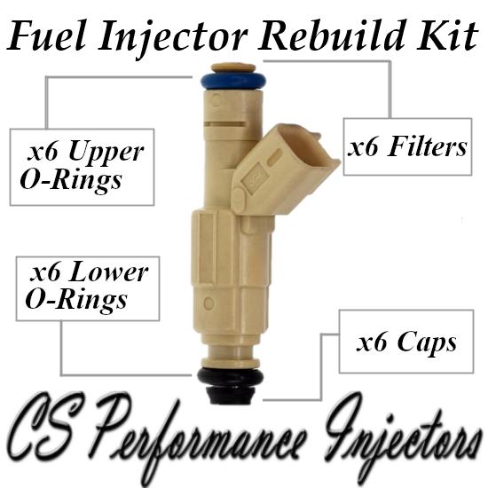 Fuel Injectors Rebuild Repair Kit fits 0280155861 for 00-02 Mazda Mercury 2.5 V6