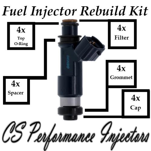 Fuel Injectors Rebuild Repair Kit fits 195500-0281 for 2004-2012 Mitsubishi 2.4L