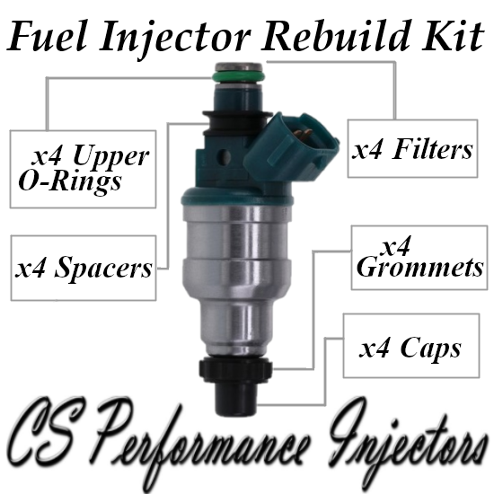 Fuel Injectors Rebuild Repair Kit fits INP-480 for 93-99 Mazda Ford 2.0L L4