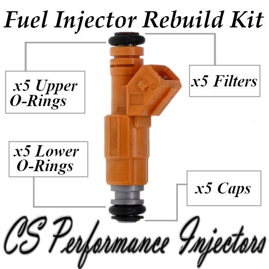 Fuel Injectors Rebuild Repair Kit fits 0280155746 for 95-98 Volvo 850 V70 2.4 I5