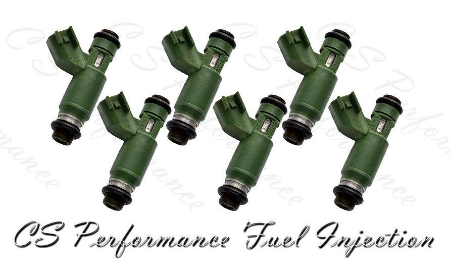 OEM Denso Fuel Injectors Set (6) 1X43-AB for 2002-2008 Jaguar 2.5L 3.0L V6
