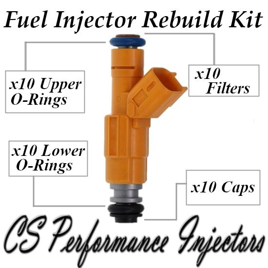 Fuel Injectors Rebuild Repair Kit fits 0280155857 for 99 Ford 6.8 V10 Super Duty