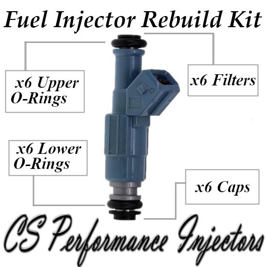 Fuel Injectors Rebuild Repair Kit fits 0280155715 for 96-98 Ford Mercury 3.0L V6