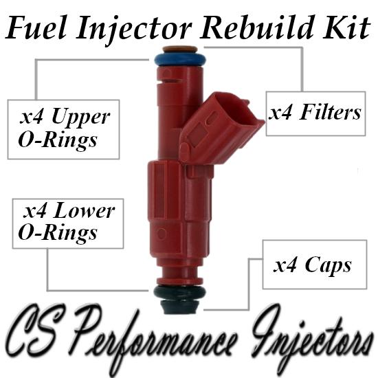 Fuel Injectors Rebuild Repair Kit fits 0280156161 for 03-07 Ford Focus 2.0L 2.3L