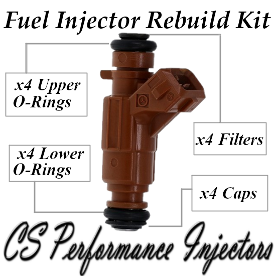 Fuel Injectors Rebuild Repair Kit fits 0280156023 for 00-09 Saab 2.0L 2.3L Turbo