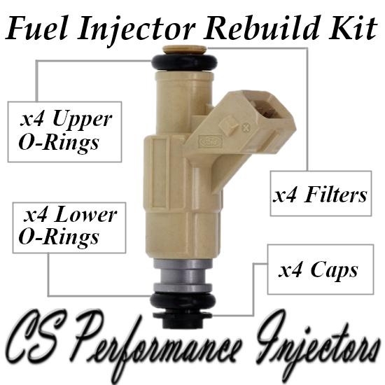 Fuel Injectors Rebuild Repair Kit fits 0280155796 for 97-02 Ford Mercury 2.0 I4