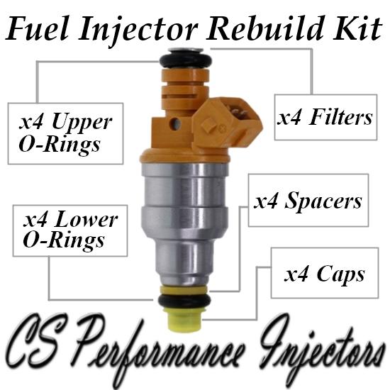 Bosch 0280150734 Fuel Injectors Rebuild Kit for 85-95 Volvo Peugeot 1.9 2.2 2.3