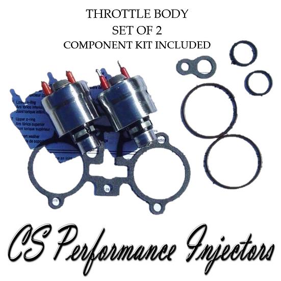 OEM TBI Fuel Injectors Set (2) 5235206 for 1987-1996 GMC Chevy 5.7L V8 55lb