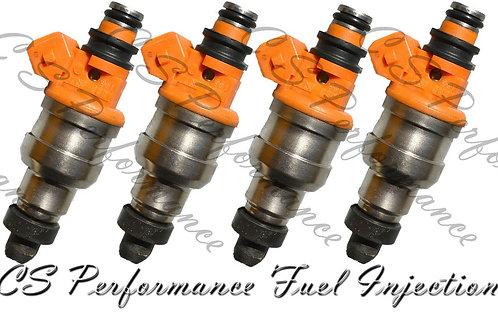 OEM Fuel Injectors Set 4 INP-060 for 91-92 Eagle Mitsubishi Colt 1.5 2.0 I4 SOHC