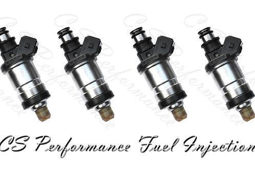 Flow Matched OEM Fuel Injectors (4) Set for Honda Acura Isuzu 2.2L 2.3L I4 OBD0