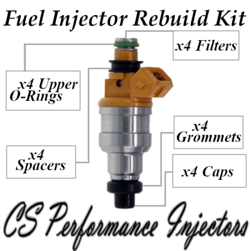 Fuel Injectors Rebuild Repair Kit fits 35310-24010 for 90-94 Hyundai 1.5 I4 SOHC