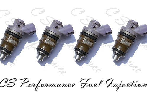 OEM Denso Fuel Injectors Set (4) 23250-76010 for 1991-1995 Toyota Previa 2.4L L4