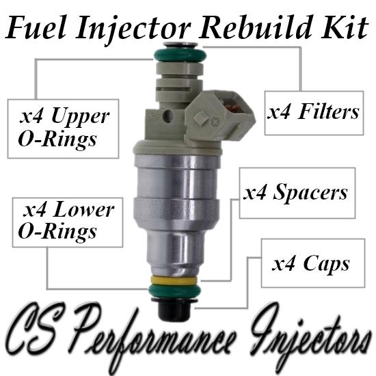 Fuel Injectors Rebuild Repair Kit fits 0280150941 for 90-96 Ford Mercury 1.9 2.3