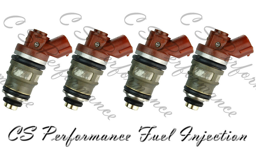OEM Denso Fuel Injectors Set (4) 23250-76020 for 1994-1997 Toyota Previa 2.4L I4