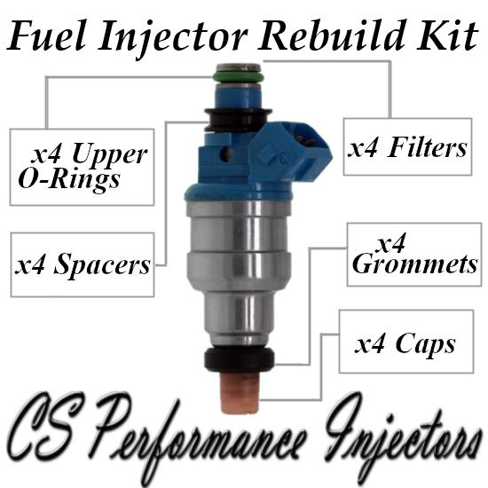 Fuel Injectors Rebuild Repair Kit fits INP-062 for 93-96 Mitsubishi Eagle 1.5 I4